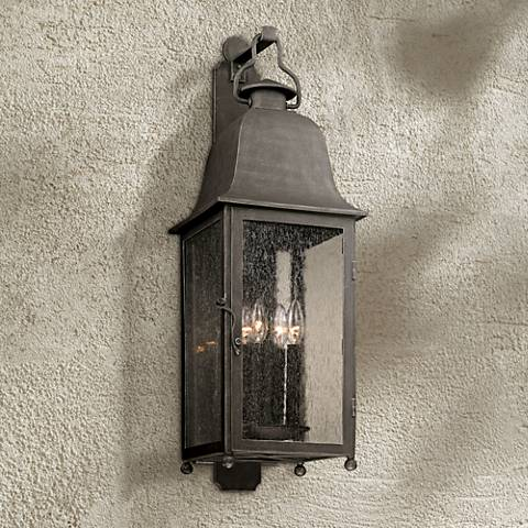 "Larchmont 31 1/2"" High Aged Pewter Outdoor Wall Light"