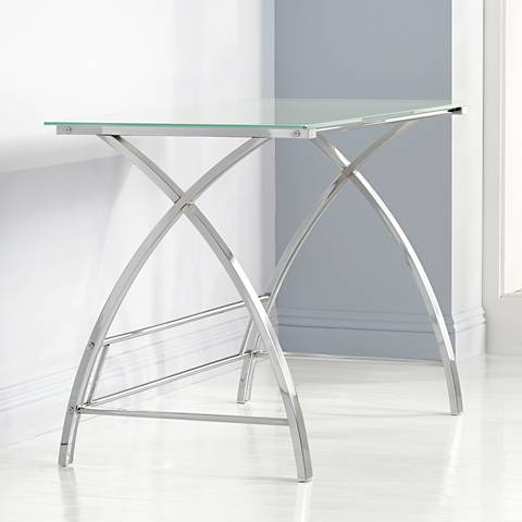 Zauriel Polished Chrome Computer Desk