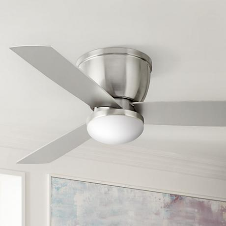 "48"" Casa Manifest Brushed Nickel LED Hugger Ceiling Fan"