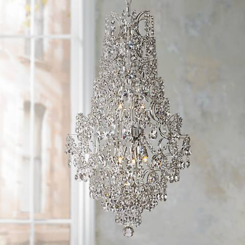 "Marilyn 18 1/4"" Wide Chrome Crystal Chandelier"