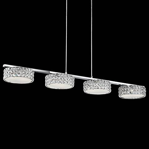 "Possini Euro Marcela 46 3/4"" Wide Crystal LED Island Pendant"