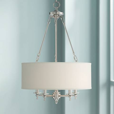 "Possini Euro Kinney 19 1/4""W Brushed Nickel Pendant Light"