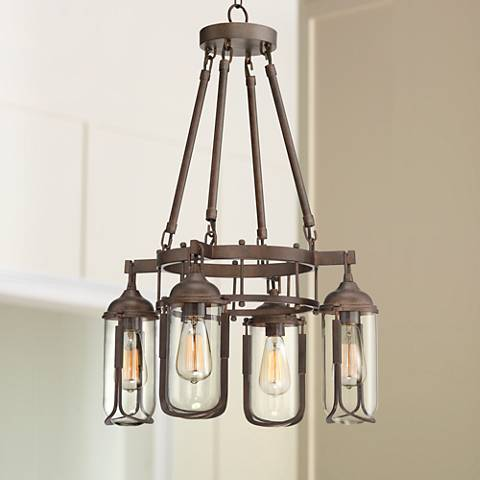 "Anselda 21"" Wide 4-Light Bronze Chandelier"
