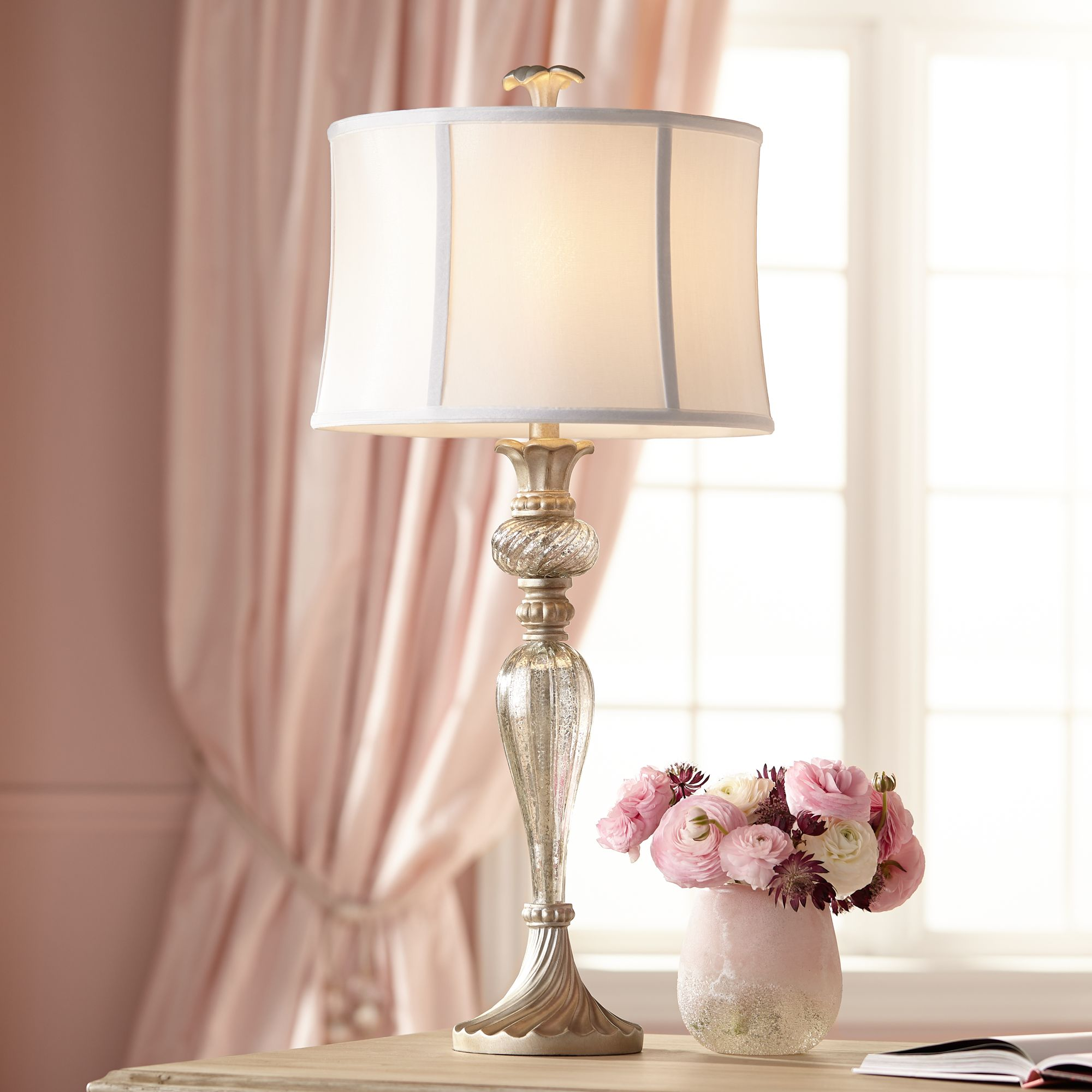 alyson mercury glass table lamp by regency hill - Mercury Glass Table Lamp