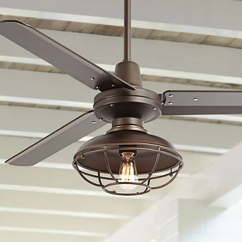 "52"" Plaza™ Franklin Park Bronze Damp Ceiling Fan"
