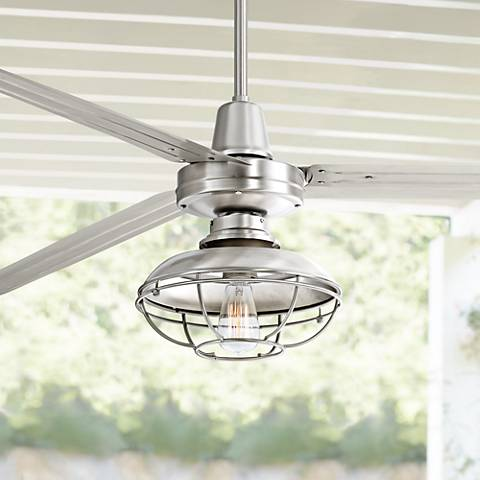 "72"" Turbina XL Franklin Park Brushed Steel Ceiling Fan"