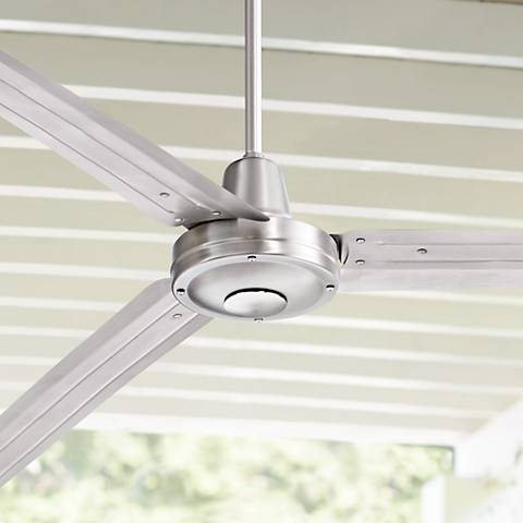 "84"" Turbina XL™ Brushed Steel Ceiling Fan"