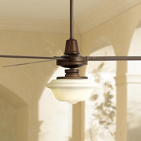 "72"" Turbina XL Schoolhouse Oil-Rubbed Bronze Ceiling Fan"