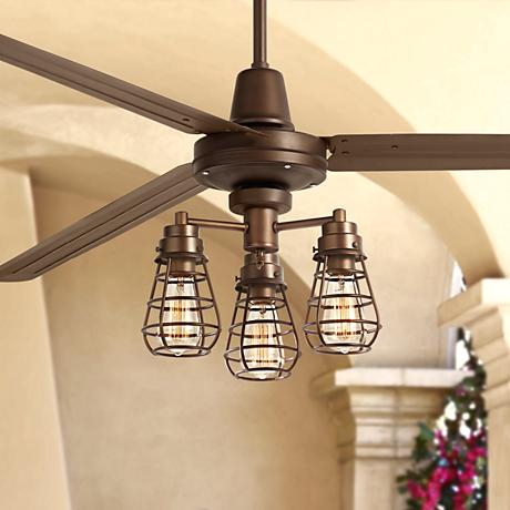 72 turbina xl bendlin cage oil rubbed bronze ceiling fan 7c878. Black Bedroom Furniture Sets. Home Design Ideas