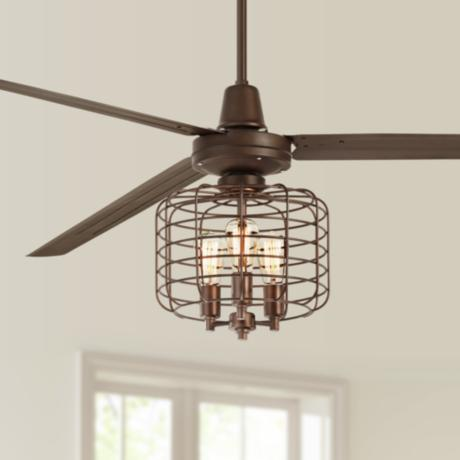 84 turbina xl industrial cage oil rubbed bronze ceiling fan 7c878. Black Bedroom Furniture Sets. Home Design Ideas