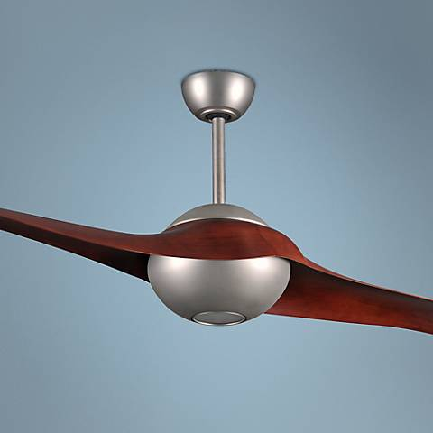 "60"" Matthews C-IV Rosewood - Nickel LED Ceiling Fan"