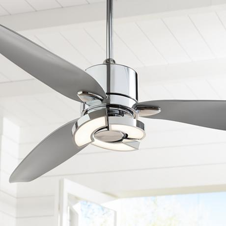 56 Quot Vengeance Led Chrome Ceiling Fan 7d209 Lampsplus Com