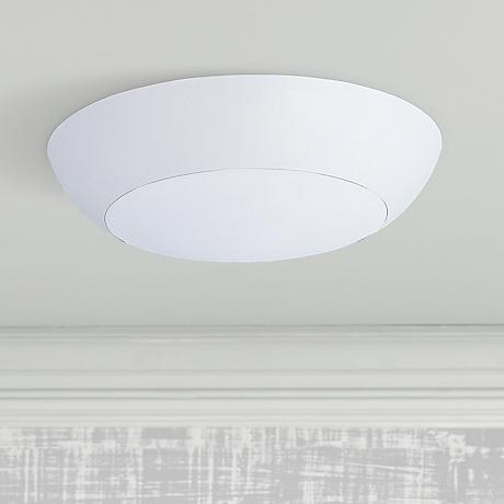 "Maxim Diverse 6 1/2"" Wide White Round LED Ceiling Light"