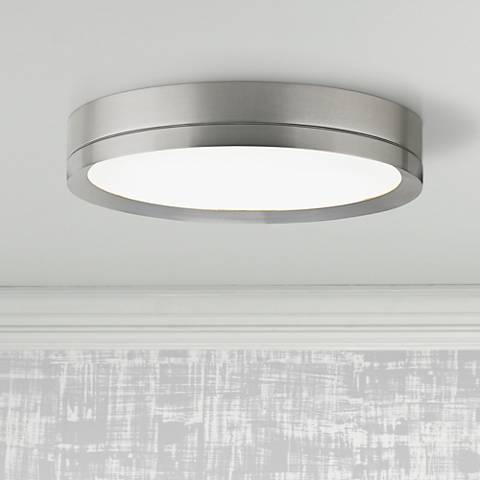 "Tech Lighting Finch 12"" Round Nickel LED Ceiling Light"