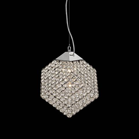 "Possini Euro Lovatt 11 1/4"" Wide Crystal Beaded Mini Pendant"