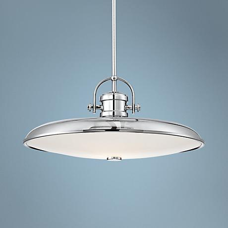 "Possini Euro Camerino 19 3/4""W Industrial Chrome Pendant"