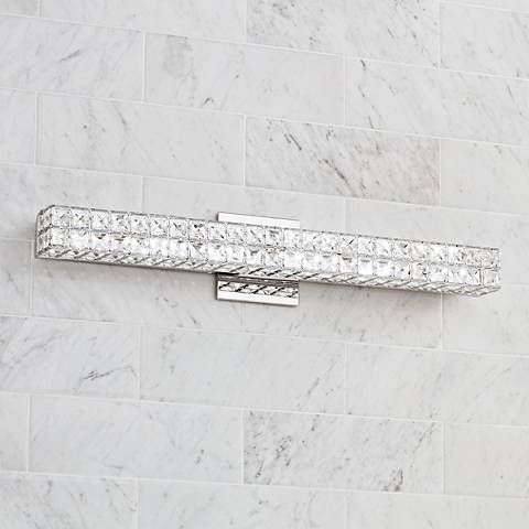 "Romantica 26"" Wide Clear Crystal LED Bath Light"