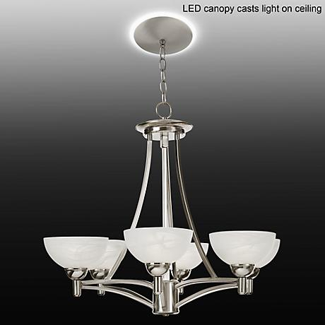 Kathy Ireland Deco Scale Chandelier with LED Canopy