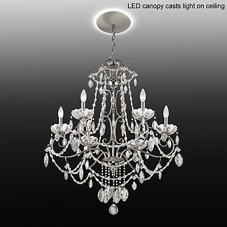 "Marienne 6-Light 27 1/2""W Crystal Chandelier with LED Canopy"