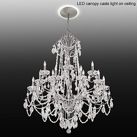 "Marienne 38 1/2""W Crystal Chandelier with LED Canopy"