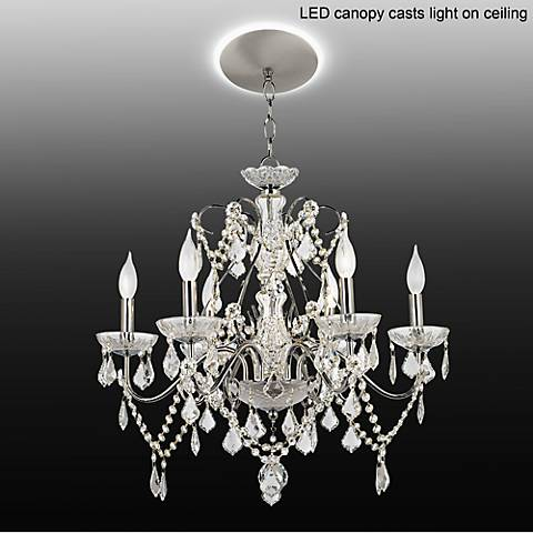 Vienna Full Spectrum Chrome Crystal Chandelier with LED Canopy