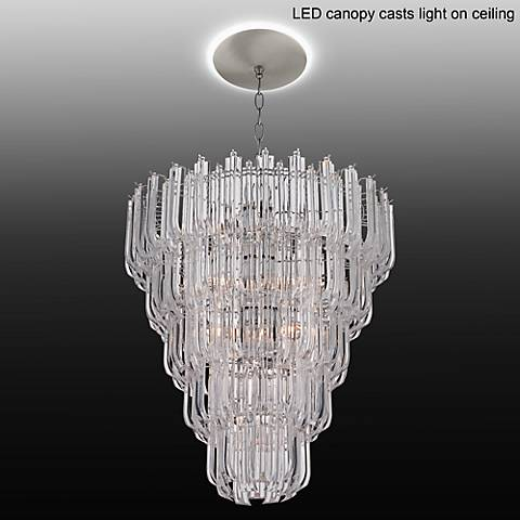 "Tylla 20 1/2""W Chrome Chandelier with LED Canopy"