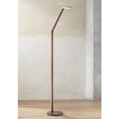 Possini Euro Magnum French Bronze Task LED Floor Lamp 7H308