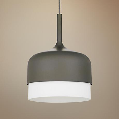 "LBL Mezzo Grande 16"" Wide Matte Gray Pendant Light"