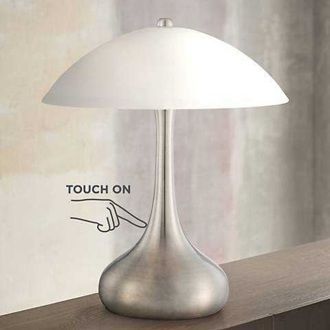 "Lagro Steel Droplet 16"" High Touch Accent Table Lamp"