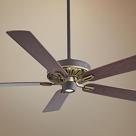 "60"" Minka Aire Iconic Bronze and Brass Ceiling Fan"