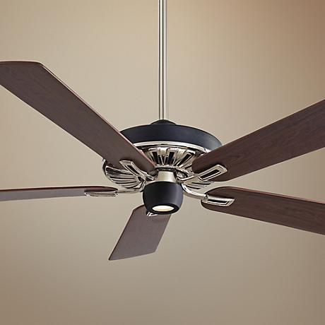 "60"" Minka Aire Iconic Black and Nickel Ceiling Fan"