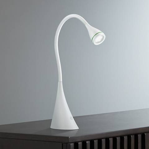 Quest Gooseneck White LED Desk Lamp