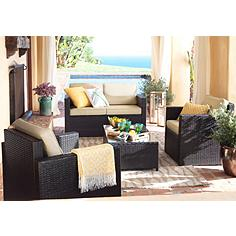 Avalon 4-Piece Outdoor Wicker Conversation Set