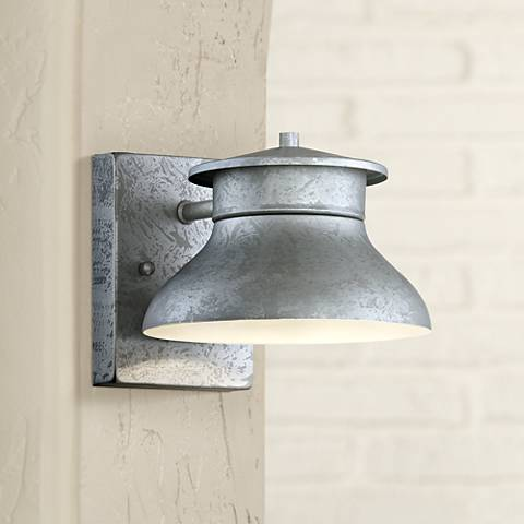 "LED Energy Efficient Galvanized 5"" High Outdoor Wall Light"