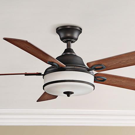 "52"" Fanimation Stafford Dark Bronze Ceiling Fan"