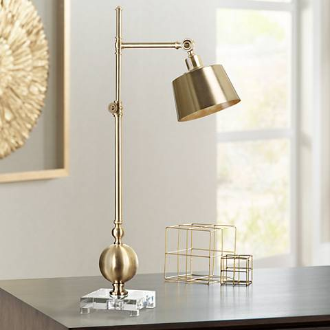 Uttermost Laton Brushed Brass Task Desk Lamp