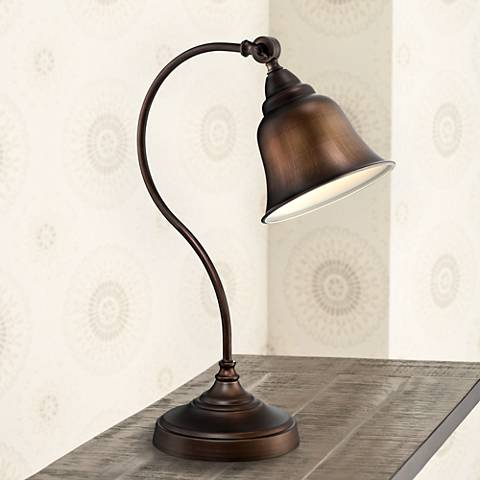 Lite Source Gianna Antique Copper Desk Lamp