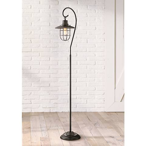 Lanterna II Bronze Floor Lamp by Lite Source