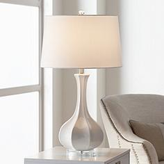 Aurion Fluted Ceramic Gourd Table Lamp