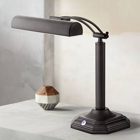 Grady Bankers Black Bronze LED Piano Desk Lamp