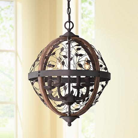 "Quoizel Chamber 16"" Wide Darkest Bronze Chandelier"