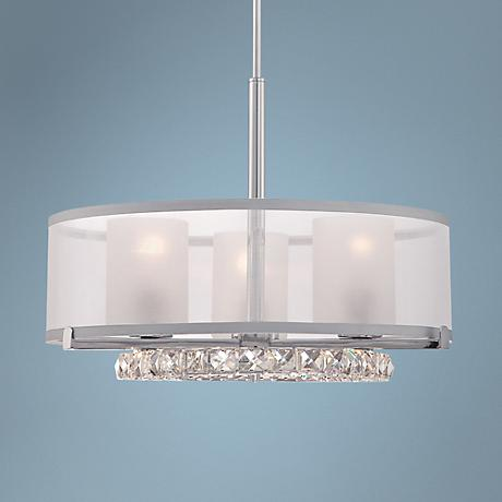 "Quoizel Janelle 20"" Wide Polished Chrome LED Pendant"