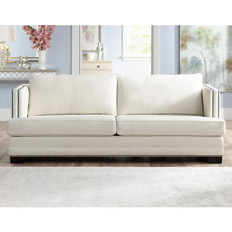 Melbin Divine Cream Fabric Sofa