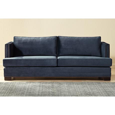Melbin Eclipse Blue Fabric Sofa