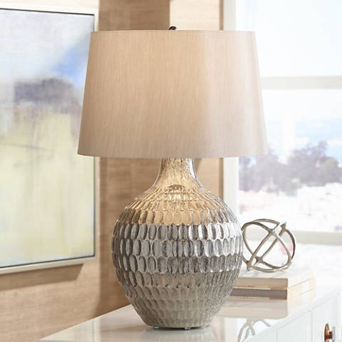 Possini Euro Burgess Textured Glass Table Lamp