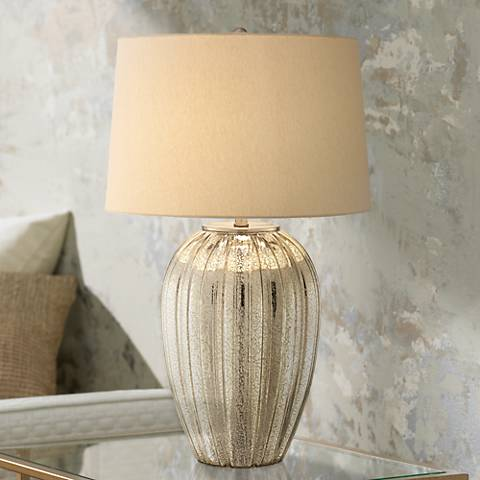 Possini Euro Naxos Fluted Glass Table Lamp