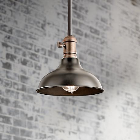 "Cobson 8""W Bronze Wall Sconce Convertible Mini Pendant"