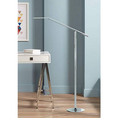 Koncept Gen 3 Equo Warm LED Modern Floor Lamp Chrome