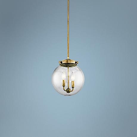 "Kichler Holbrook 10"" Wide Natural Brass 2-Light Mini Pendant"