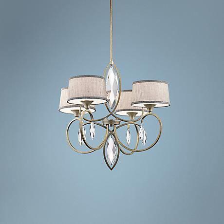 "Kichler Casilda 29"" Wide Sterling Gold 4-Light Chandelier"